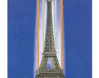 "Eiffel Tower of Paris (3.55""x 5.5"" Postcard)"