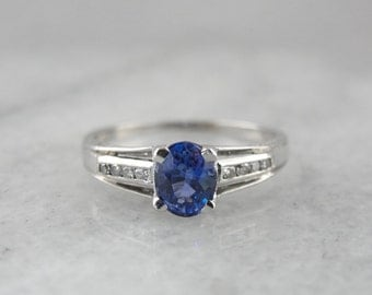 Pretty Sapphire and Diamond Engagement Ring 9JU8Z6-N