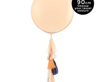 Sunset Glam – Jumbo Balloon 90CM with Tassel - Blush