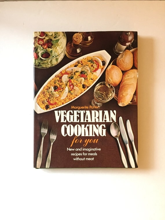 Vegetarian Cookbook Cover : Vegetarian cooking for you by marguerite patten vintage