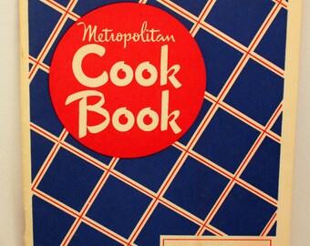 Vintage Metropolitan Cookbook 1948 Softcover Advertising Insurance Premium