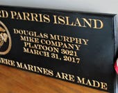 Custom engraving, Boot Camp Graduation Gift, Bootcamp basic training personalized engraved gifts, Recruit graduation, Marine Corps gifts