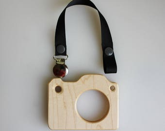 Wooden Camera Teether | Camera Teether | Wooden Teether