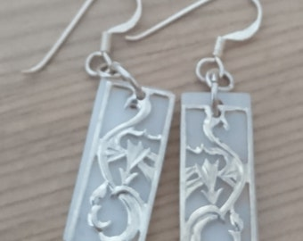 Vintage sterling silver and mother of pearl earrings