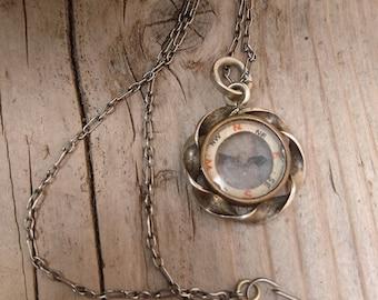 Antique compass fob