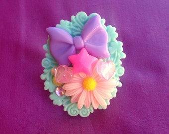 Flower Power Kawaii Statement Ring, sweet lolita, girly, chunky, fairy kei, gyaru, Harajuku