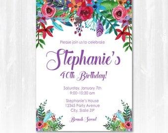 40th Birthday Party Invitation - 50th Birthday Party Invitation - 30th Birthday Party Ideas - INSTANT DOWNLOAD - Edit with Adobe Reader!