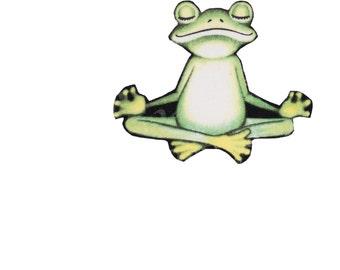 Frog Yoga Iron On Fabric Transfer Applique - 852