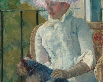 """Mary Cassatt : """"Young Girl at a Window"""" (c. 1883-1884) - Giclee Fine Art Print"""