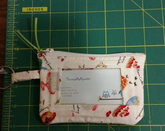 ID Wallet, Coin Purse, Zipper Closure, Made With sweets/dessert Fabric