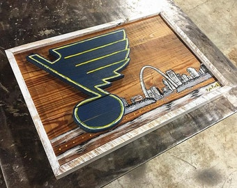 Reclaimed Wood St. Louis Blues Sign / Blues Sign / Blues Hockey / Blues Wall Art