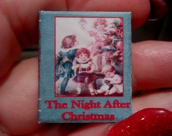 Dolls House 12th Scale  The Night After Christmas. Downloadable miniature book.