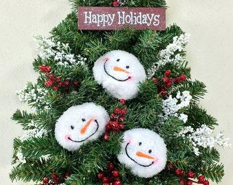 christmas wall tree snowman wreath christmas wreath holiday wreath winter wreath - Snowman Christmas Decorations