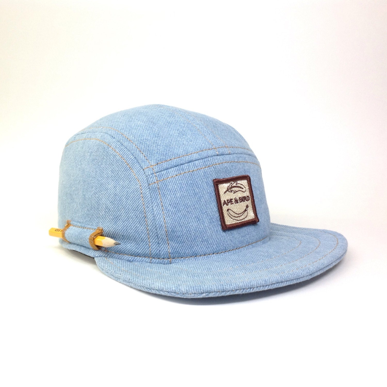 handmade 5 panel hat headwear baseball hat trucker denim made