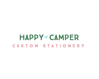 Custom Stationery Set ~ Happy Camper