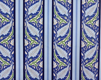 Blue fabric with ornament
