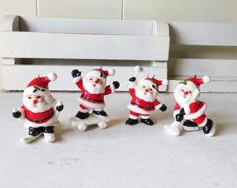 Vintage Fitz and Floyd Santa Ornaments- Sporty Santa's - Hockey, Skiing, Skateboard, Tennis One Santa of Your Choice