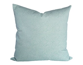 Scalamandre Shagreen Aquamarine designer pillow cover - 1 SIDED OR 2 SIDED - Made to Order - Choose Your Size