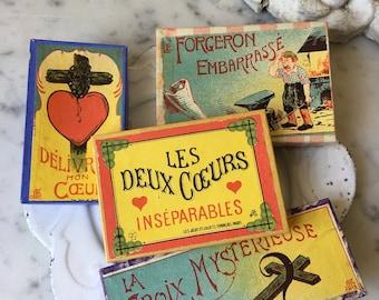 antique French puzzle game, circa 1900