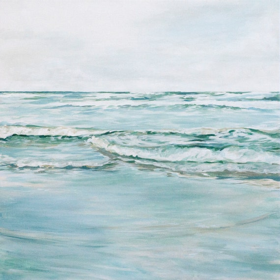 "Original 24x24 Painting ""Rippling Tide"" FREE SHIPPING"