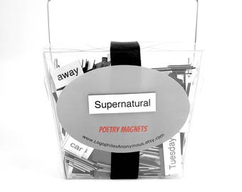 Supernatural Poetry Magnet Set - Refrigerator Poetry Word Magnets - Free Gift Wrap