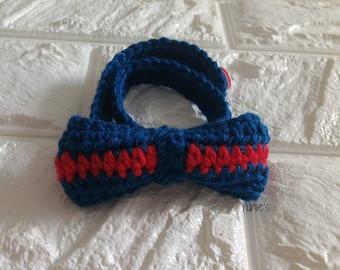 Nautical Bow Tie ,Baby BowTie, Crochet bowtie, baby boy photo prop