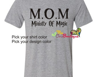 Ministry Of Magic Shirt, Harry potter inspired shirt, Mothers Day, Fantastic Beast Shirt
