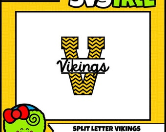 Split Letter SVG Viking SVG Chevron Letters SVG Split Letter Monogram svg files silhouette files files for cricut digital cut files
