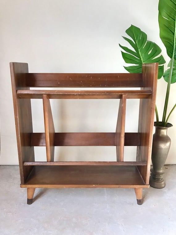 Midcentury Wooden Bookshelf / Mid Century Wooden Bookcase / Mid Century Wooden Bookshelves