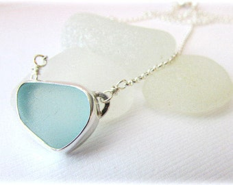 Sea glass pendant etsy sea glass necklace sterling silver necklace bezel sea glass maine jewelry sea aloadofball