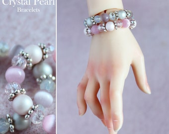 Crystal Pearl Bracelets for SD BJD