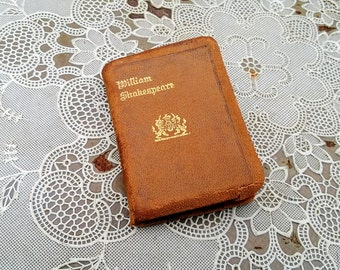 The Comedy of Errors William Shakespeare Full Leather Miniature Book  Knickerbocker Leather & Novelty Co New York