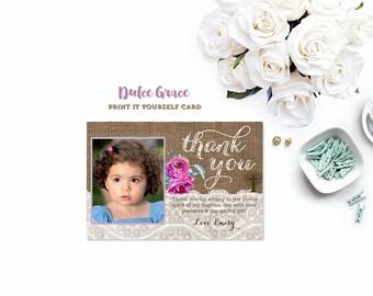 DIY thank you cards, photo thank you cards, 1st communion thank you cards, christening thank you card, birthday, dedication, baptism