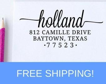 Return Address Stamp, Custom Address Stamp, Self Inking Address Stamp, Christmas Gift, Housewarming Gift  (D171)