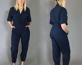 1980s Big Bill Navy Coveralls Cotton Jumpsuit