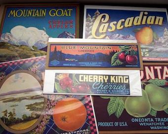 Vintage Fruit Crate Labels Assorted Lot