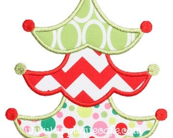 Christmas Tree with Star Applique Shirt or Onesie Boy or Girl