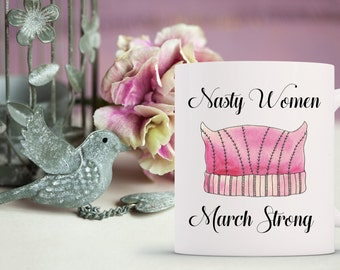 womens march // women's march // nasty woman // march on washington // feminist // womens march mug // feminist // hillary clinton // mug