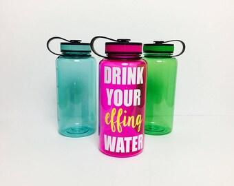 water bottle // drink your effing // effing water // drink your water // water // water tracker // effing // water intake tracker // water