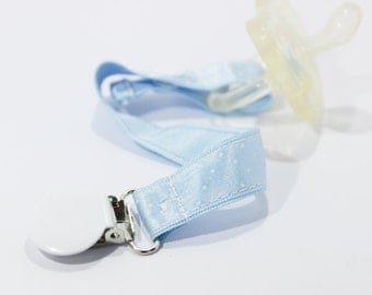 Blue Pacifier Clip, Soothie pacifier, Pacifier clip boy, Binky Clips, Baby Boy pacifier clip, Paci Clip, Pacifier holder