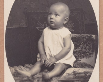 Antique Photograph - Baby Surrounded By Children's Books
