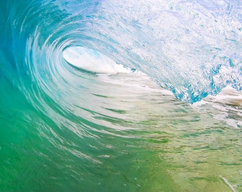 Wave Photography - Surf Photo Print, Surfing Beach Photography Home Decor for Big Wave Surfers