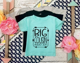 Custom Colors / Big Cousin Shirt / I'm going to be a Big Cousin T-Shirt / Pregnancy announcement