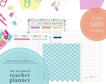 The Ultimate Teacher Planner - 2017/2018 - Over 600 pages of classroom printables!