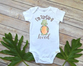 Cute Baby Gift, I'm Totally Loved, Baby Shower Gift, Newborn Baby Gift, Grandbaby gift, Niece Gift, Nephew Gift, Baby Clothes, Turtle Shirt