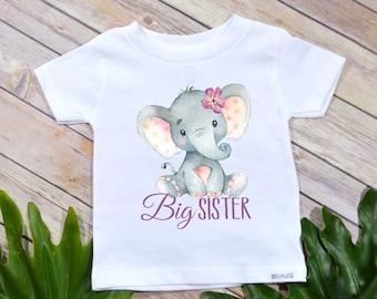 Big Sister Shirt, Elephant Theme, Big Sister Gift, Boho Baby Shirt, Big Sister T-shirt, Baby Shower Gift, Big Sister shirt, Big Sister set