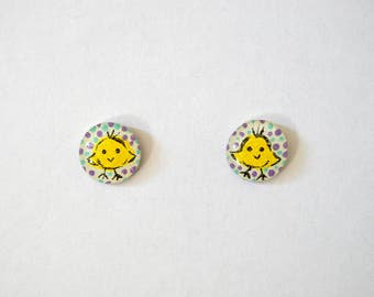 Stainless Steel Easter Earring Studs With Rubber backs (4 Options)