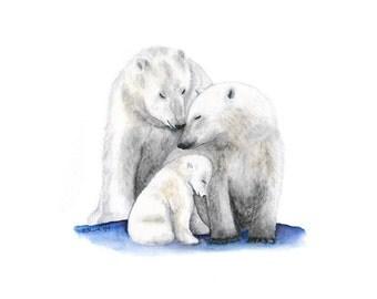 Bear painting | Etsy