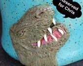 Reserved for Chris:  Extinction Event Mug with Dinosaur