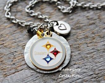 Pittsburgh Steelers Necklace, Steelers Jewelry, Steelers Fan Gift